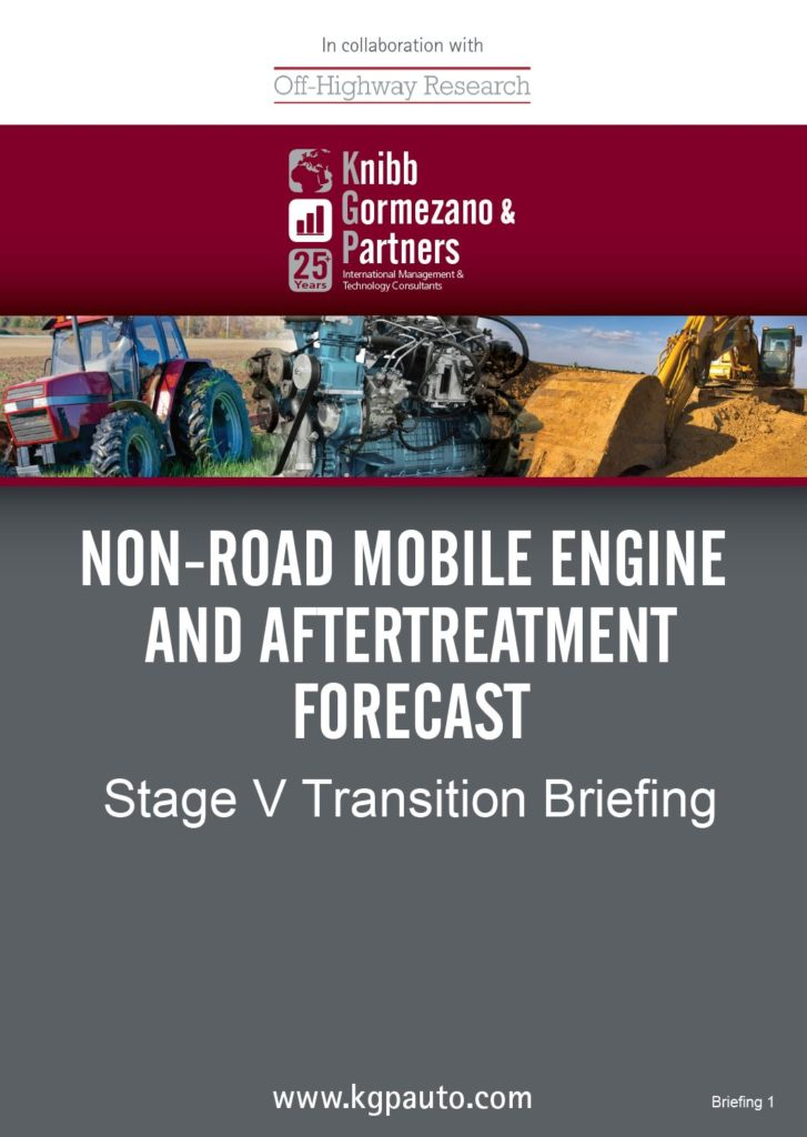 KGP's New CV and Non-Road Briefing Series Launched with a view of Stage V Transition