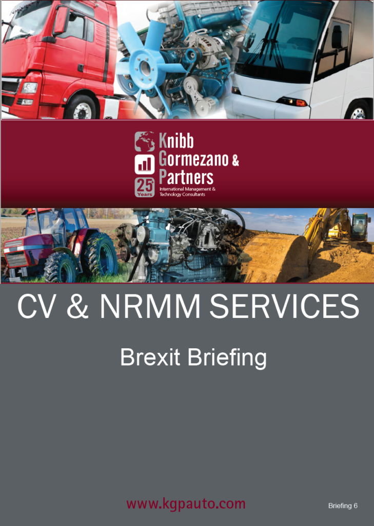 KGP's Briefing Series #6 – CV NRMM Briefing 6 – Brexit – The Issue of Regulatory Alignment