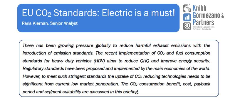 Briefing #13 – EU CO2 Standards – Electric is a must!