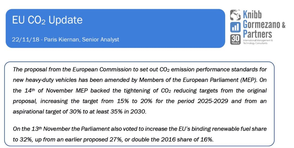 Briefing #15: EU Commercial Vehicle CO2 Update